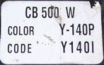 CB500W color label