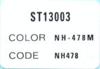 ST1300 2004 color label